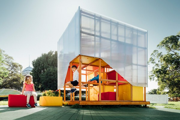 grimshaw develops cubby house concept with a system of moveable blocks