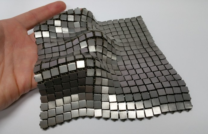 Metallic space fabric.