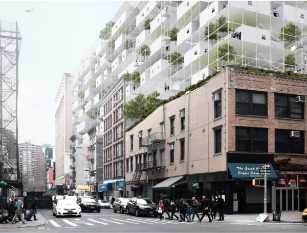 """Modular affordable housing envisioned for """"abandoned"""" New York airspace"""