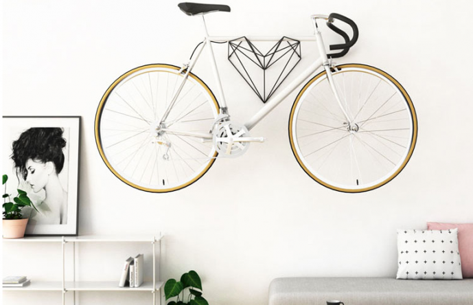 A Heart-Shaped Bike Hanger Designed For Bike Lovers